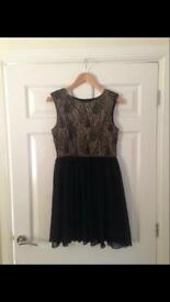 Black and Gold Dress - Size 12