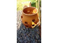 Large ceramic strawberry pot