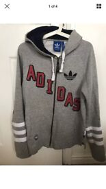 Men`s Adidas hooded top Hoodie Jacket size small