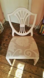 6 Dining Chairs - Newly upholstered and painted