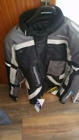 Spada Allround motorcycle jacket & trousers, brand new with tags