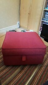 Foot stool with storage. As new . 60x54x37cm. Storage 56x50x16cm. Vgc been in the spare room