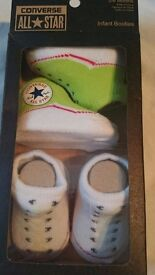 Converse All Star Booties/Socks 2 Pack Brand New