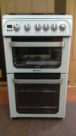 HOTPOINT White 50cm Gas Cooker ex display