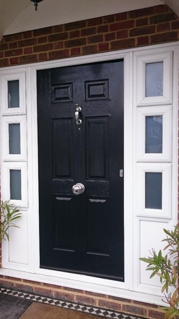 Front Door White From Inside Black From Outside Two
