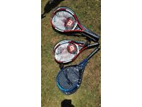 3 Tennis Rackets - 2 Adults and 1 Junior