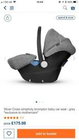 BRAND NEW Silver Cross Simplicity 0+ Car Seat