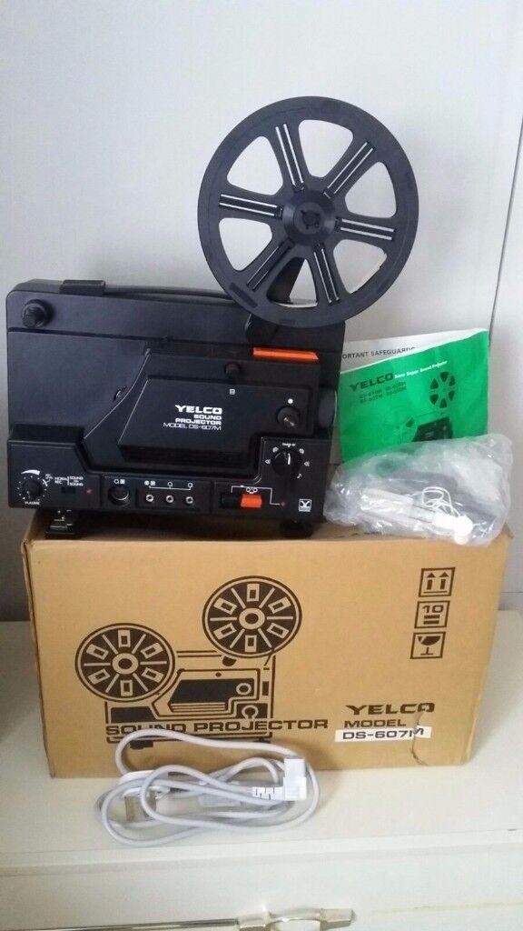 YELCO DS-607M. SUPER 8 8MM. Sound Cine Film MOVIE PROJECTOR. Boxed Like NEW