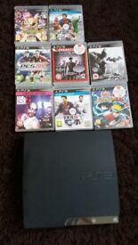 PS3 black slim 500 GB <9games> 70£ like new
