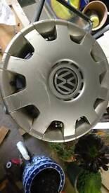 Genuine VW set of 4 15inch wheel trims