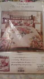 claret coloured king size bedding