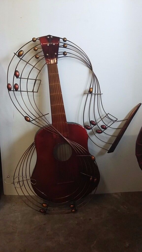 Metal Wire Guitar Wallhanging / Decor / Statement Piece