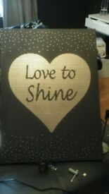 Canvas Heart Print