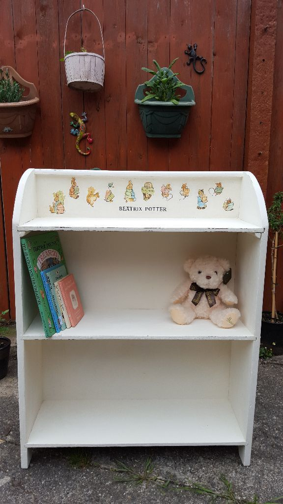 Children S Bookcase With Beatrix Potter Decoupage In