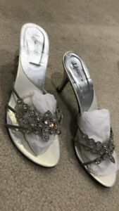Pearl white diamanté heel UK size 6/39