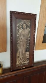 victorian lady in gorgeous mahogany frame