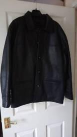 Men's black leather jacket 40 chest