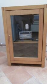 hi fi glass fronted cabinet
