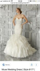 MoriLee Gardner 2017/18 Collection Bridal Gown - Ivory - Superb Condotion - Sz 8/10