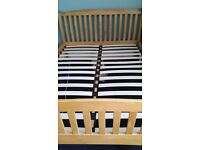 King size bed frame only, no mattress - EXCELLENT condition
