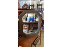 Antique Bevelled Glass Mirror