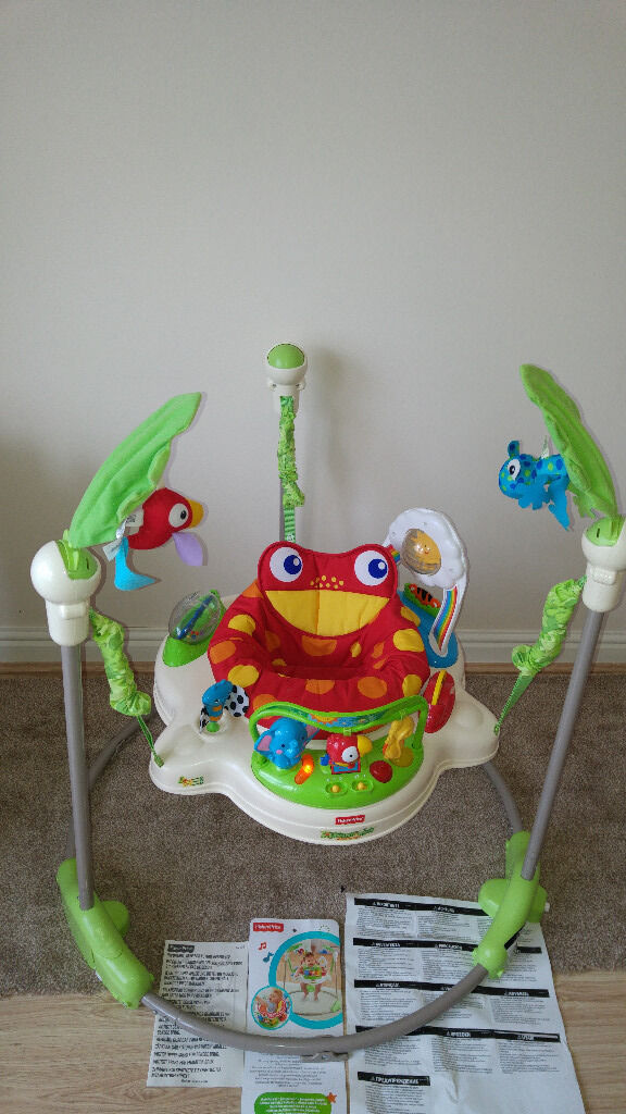 Rainforest Jumperoo By Fisher Price With Box And Instructions Very