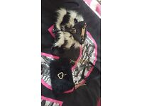 Two childrens fur bags from river island