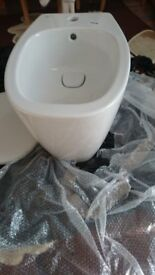 BIDET Commercial design Back to Wall Bidet Tap Hole Tap Not Included