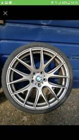 "Bmw 20"" alloys with tyres. 8.5j and 10j"