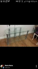 Clear tv table FREE DELIVEEY UPTO 50 INCH TV