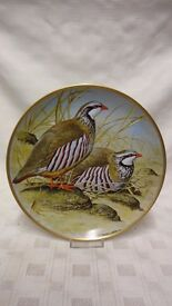 Franklin Porcelain Collector Plate Game Birds Of The World RED LEGGED PARTRIDGE