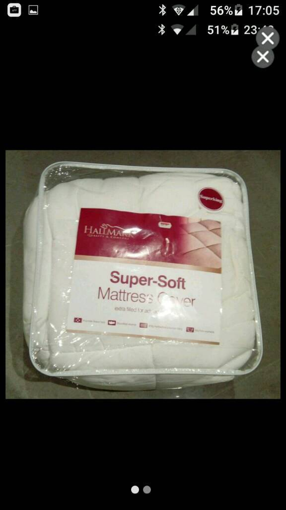 Super soft deluxe mattress cover