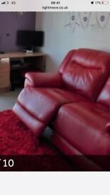 Electric Recliner Sofa in Red