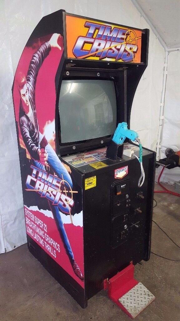 TIME CRISIS Arcade Coin Op Machine NAMCO 1995 Light Gun cabinet ...
