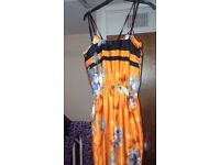 River island orange jumpsuit