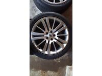 """Range Rover Sport 20"""" Original Alloy wheels And 275/40r20 GOOD YEAR tyres £400.00"""
