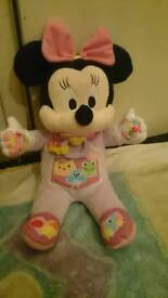 Disney interactive baby Minnie mouse plush