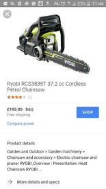 Ryobi Petrol chainsaw.New in box. Free local deliveryl