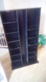 Large Black DVD and CD Rack