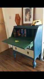 Bureau Vintage Retro Upcycled using Annie Sloan Chalk Paint Manchester Bee Stencil