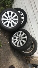 Passat wheels with good tyres