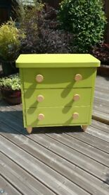 Green IKEA Mammut drawers