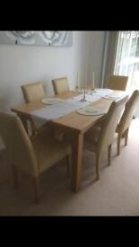Cream table and chairs