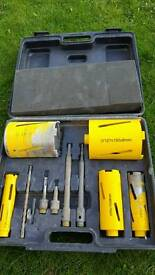 Diamond Worksafe Core drill hole set.