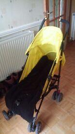 Mothercare Nanu stroller yellow