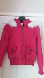 Brand New Older Girls Pink Jacket Coat 12-13 years