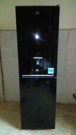 BEKO black with water dispenser fridge freezer new ex display