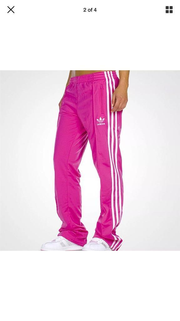 3452ac235ee9 Pink Adidas tracksuit bottoms