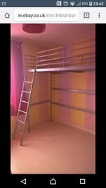 Silver metal bunk beds x2 With mattresses