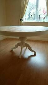 Bespoke rustic oak dining room table